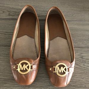 Michael Kors Camel Leather Loafers Size 11